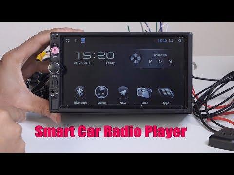 Universal 7'' Smart Car Stereo Radio Player GPS Navigation Android 7.1 2 Din BT