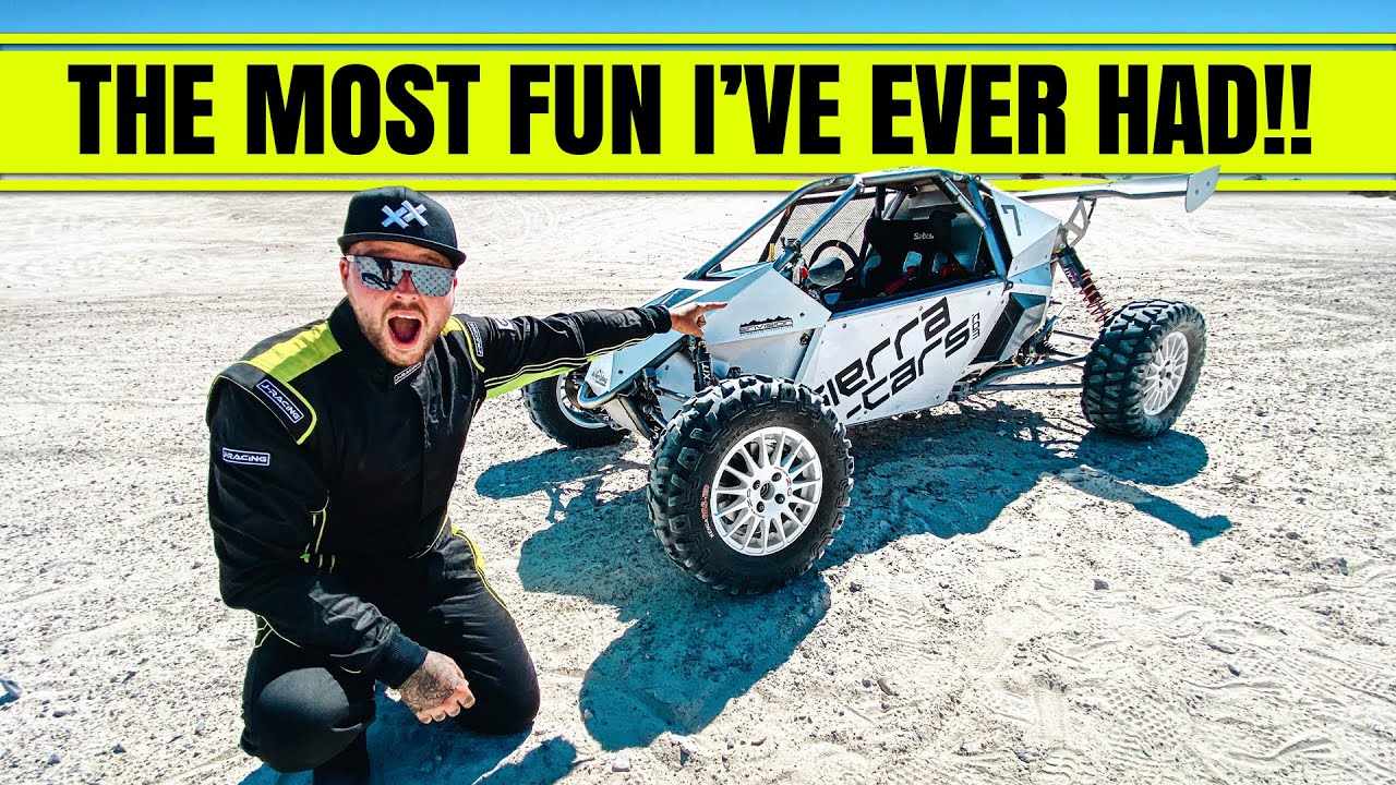 RACING A  100MPH OFF ROAD BUGGY!! (I JUMPED IT)