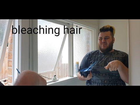 bleaching hair at home