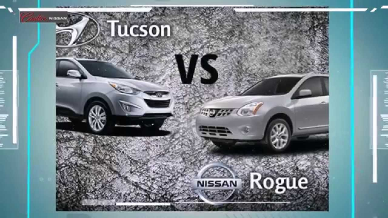 2014 nissan rogue vs hyundai tucson vehicle comparison nissan dealer of phoenix az youtube. Black Bedroom Furniture Sets. Home Design Ideas