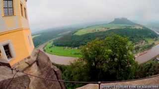 Путевые Заметки.Германия,май 2014: крепость Кёнигштайн в Саксонской Швейцарии(По дороге (хотя, если честно - не совсем по дороге - сделал крюк) в Амстердам (http://youtu.be/3IDIR1O3d84) и в Вупперталь..., 2014-07-06T15:06:40.000Z)