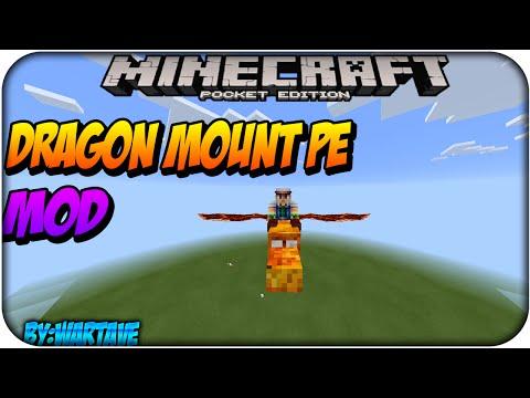 Dragon Mount PE - Mod Minecraft Pocket Edition 0.13.1/ 0.14.0 Descarga/Download