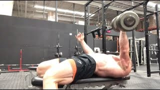 140lb Single Arm Dumbbell Bench Press - Handing Out Outright Bars At Purdue!