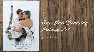 Baixar One Line Drawing - Wedding Photo and Illustration