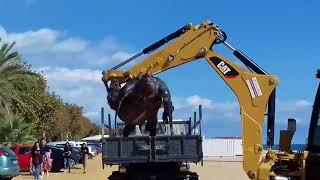 В Испании на пляже нашли 700 кг черепаху