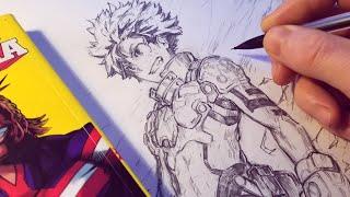 Download Video Drawing Izuku Midoriya NEW HERO Design - Redesign   Anime Manga Sketch MP3 3GP MP4