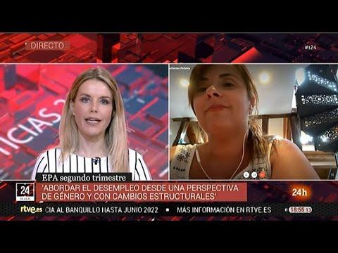 """Entrevista a Cristina Antoñanzas en el programa """"La tarde en 24 horas"""" de TVE"""