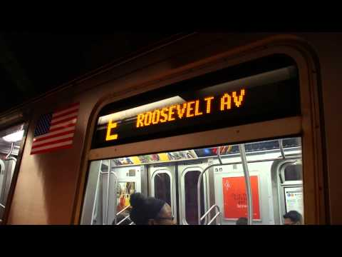 [ Queens Blvd FASTRACK ] Roosevelt Avenue Bound Train Of R160As & R160Bs On The E @ Jamaica-Van Wyck