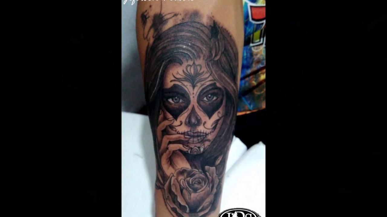 Tattoo Caveira Mexicana Braco Fechado