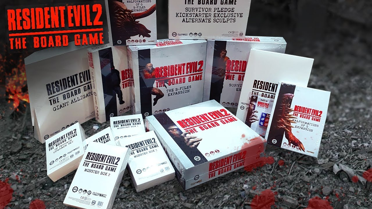 Resident Evil 2 The Board Game Complete Collection Unboxing
