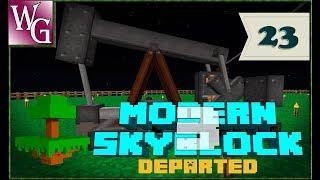 Modern skyblock 3 departed - нефть на скайблоке - фантастика №23