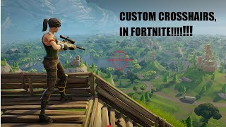 HOW TO GET A CUSTOM CROSSHAIR (FORTNITE)!!