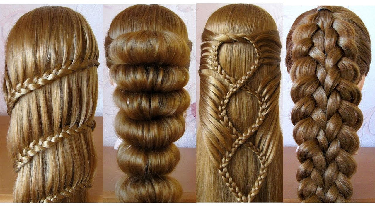 Most Beautiful Hairstyles for girls ♥️ Easy Hairstyles ♥️ Coiffures simples et belles - YouTube