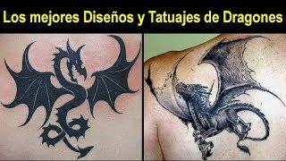 Gambar cover Los mejores Tatuajes y Diseños de Dragones