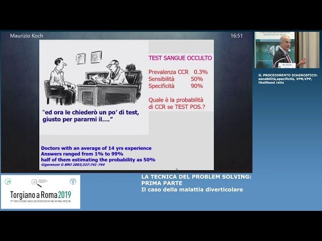 EBGH Torgiano19 Procedimento diagnostico sensibilità, specificità, VPN, VPN, likelihood ratio M.Koch