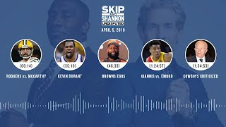 UNDISPUTED Audio Podcast (04.05.19) with Skip Bayless, Shannon Sharpe & Jenny Taft | UNDISPUTED