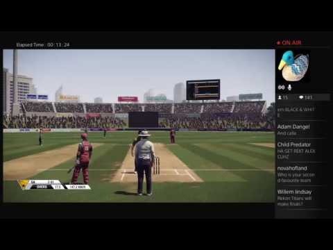 Streaming some Don Bradman Cricket 14