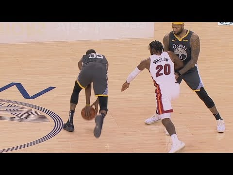 Durant Gets Away With Double Dribble vs Heat! 2018-19 NBA Season