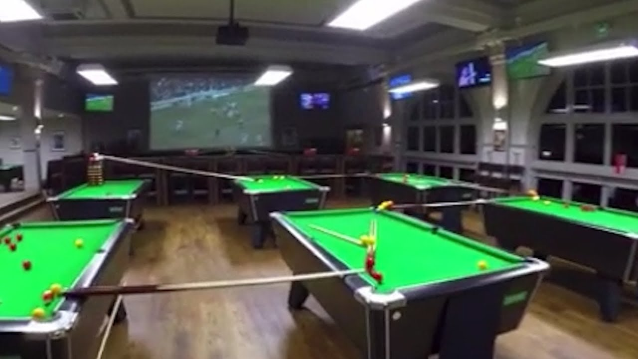 Bristol sports bar pulls off amazing trick shot – video