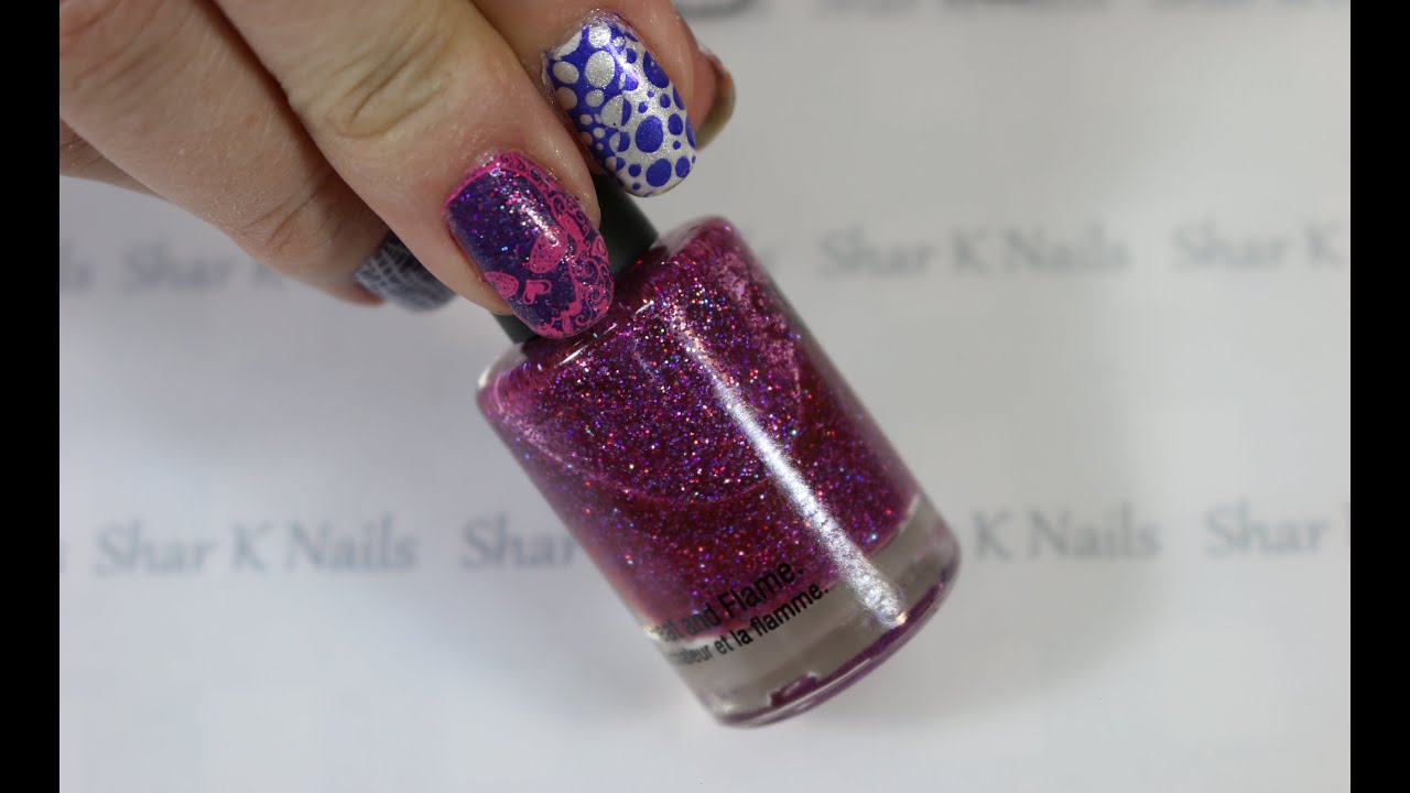 Making Purple Franken Polish for Nail Art Designs. - YouTube