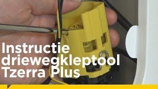 Hoe gebruik je de driewegkleptool voor de Remeha Tzerra Plus cv-ketel?