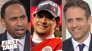 Download Stephen A. and Max react to Patrick Mahomes taking the Chiefs to the Super Bowl | First Take Mp3 and Videos