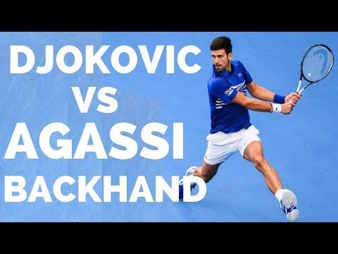 Novak Djokovic Vs Andre Agassi Backhand Analysis - Tennis Backhand Lesson