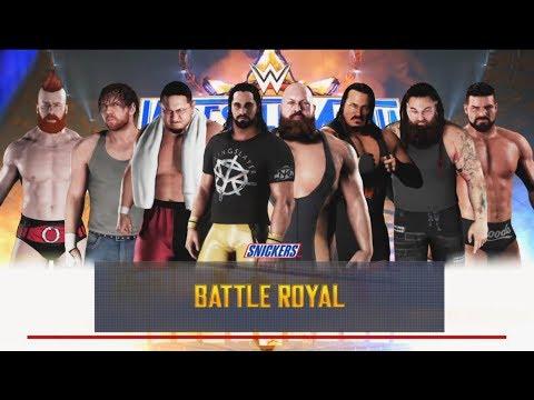 WWE 2K18 - 8 Man Battle Royal Match--WWE-2K18- Gameplay (PS4)