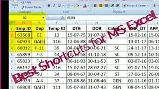 MS Excel Easy Formulas and Tricks (MS Excel के Formulas और Shortcuts ) Tutorial #4
