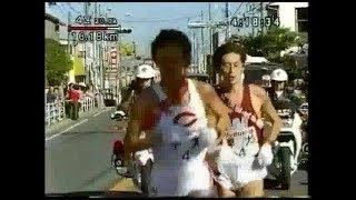 1997年第73回箱根駅伝4区、中央大・榎木和貴区間賞の場面です。 榎木和...
