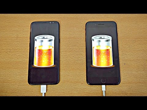 Samsung Galaxy S8 Plus Vs IPhone 7 Plus - Battery Drain Test! (4K)