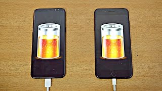 Samsung Galaxy S8 Plus vs iPhone 7 Plus - Battery Drain Test! (4K)