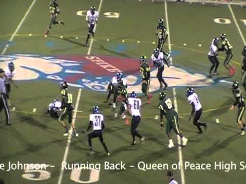 Torre Johnson - Running Back - 2012 - Queen Of Peace High School, North Arlington, NJ
