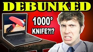 DEBUNKED: 1000 degree GLOWING knife Experiment