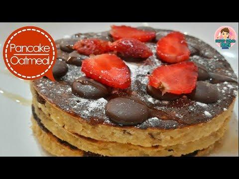 Recipes & how to make eggless Banana Oatmeal Pancakes ( Healthy & delicious diet menu # 2 )
