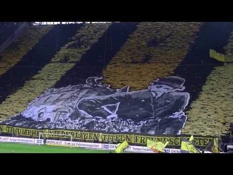 Stimmung Südtribüne: Borussia Dortmund - Hertha BSC Berlin BVB 2013 Bundesliga Choreo