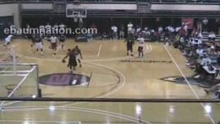 LeBron James getting dunked on by Xavier University's Jordan Crawford !