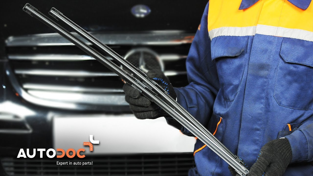 How To Replace Front Wipers Blades Mercedes Benz C W204