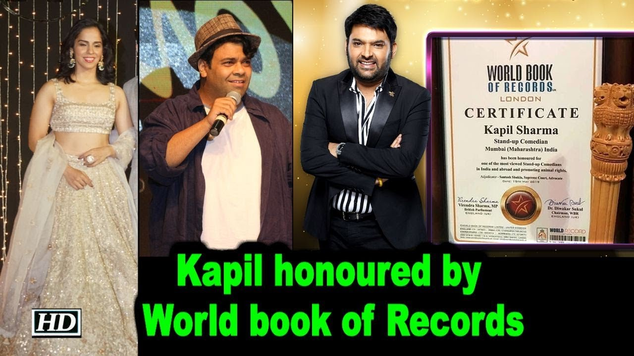 Kapil Sharma honoured by World book of Records, Celebs Congratulates him