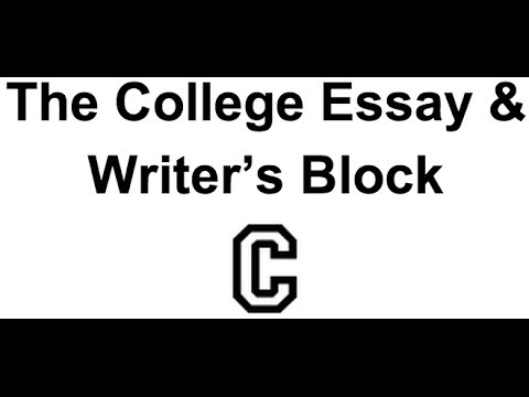 overcoming writers block when you already have a college essay topic