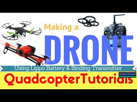 How to use lipo battery for drone - Binding 6 Channel transmitter
