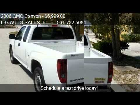 2006 gmc canyon sl ext cab 2wd for sale in boynton beach youtube. Black Bedroom Furniture Sets. Home Design Ideas