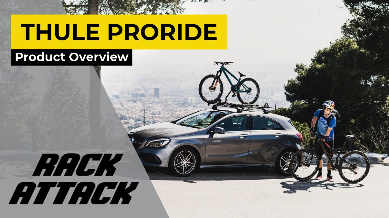 48f11a85d8a Thule 598003 ProRide Upright Bike Rack for Thule Roof Racks - YouTube