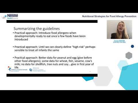 EAACI 2020 NHSc Online Symposium: New Advances In The Prevention And Management Of Food Allergy