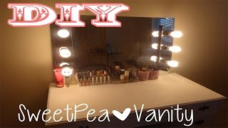 DIY Vanity Mirror with Lights/ EASY AND CHEAP!