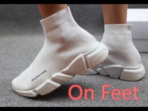 c91308bbdce75 Balenciaga Speed Trainer White HD review from flightkicks.cz - YouTube