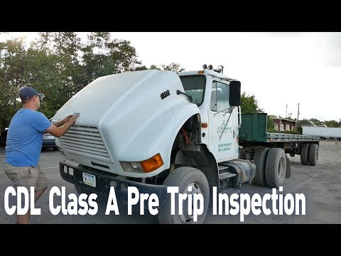CDL Class A Pre Trip Inspection. Pre Trip Inspection in 10 Minutes. Truck Driving School