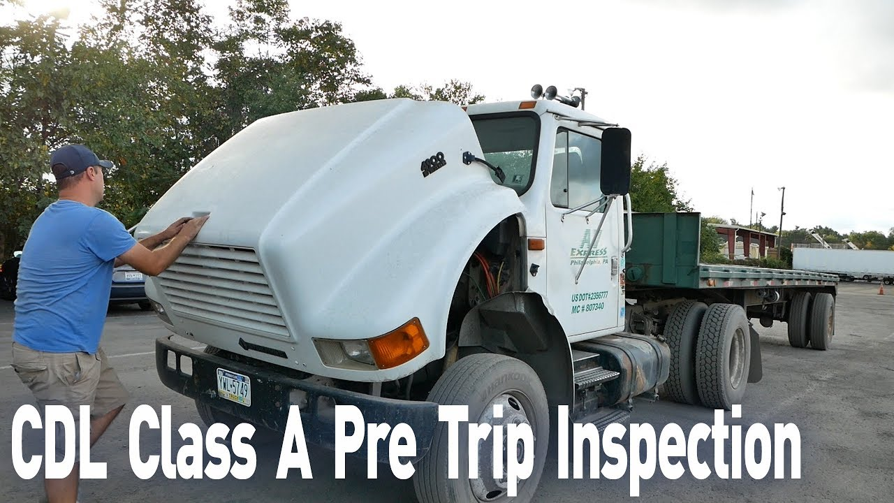 Cdl Class A Pre Trip Inspection Pre Trip Inspection In 10 Minutes Truck Driving School