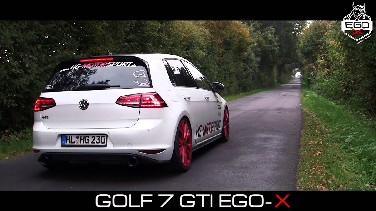 vw golf 7 gti soundfile ego x by bull x exhaust youtube