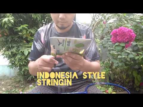 Stringing Badminton Racket By Indonesian Style Like Profesional : Mizuno Mx66s 30lbs